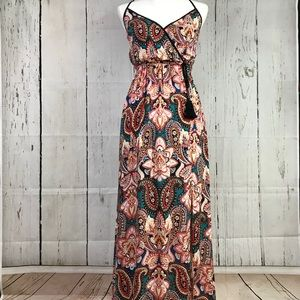 🔺Xhilaration Paisley Print Maxi Dress Size XS🔻